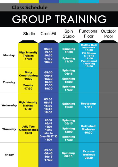 PH Group Training Schedule